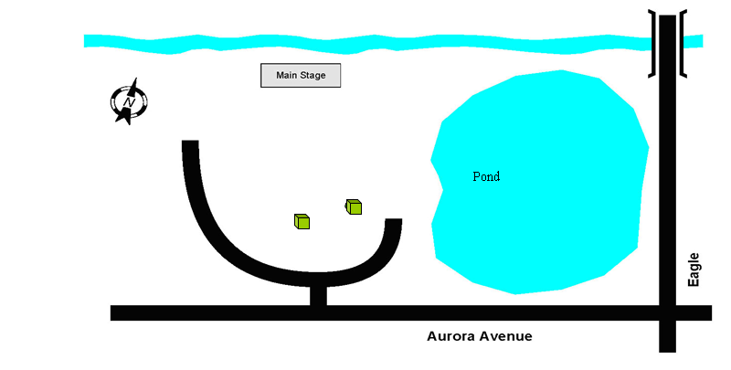 Location: 'A' Main Stage Area – Top of Hill